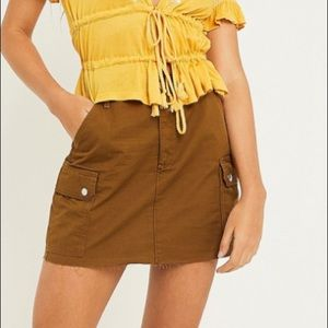 Urban Outfitters raw hem cargo mini skirt
